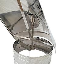 Флюгер ø130 мм из нержавеющей стали AISI 304 для дымохода вентиляции дымоходный Версия-Люкс, фото 3