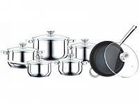 Набор Посуды Peterhof Ph 15799 12 Предметов Набор  Кастрюль Со Сковородкой Peterhof