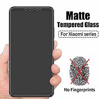 МАТОВОЕ стекло для Xiaomi Redmi Note 8t черное защитное стекло на телефон редми нот 8т черное без отпечатков