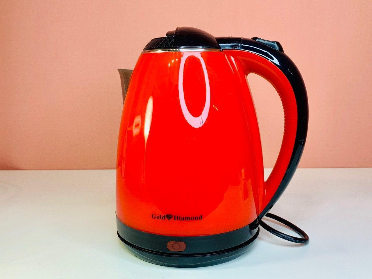 Электрочайник Gold Diamond Tk-00028 Красный Электрический Чайник Пластик-Металл