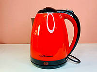 Электрочайник Gold Diamond Tk-00028 Красный Электрический Чайник Пластик-Металл, фото 1