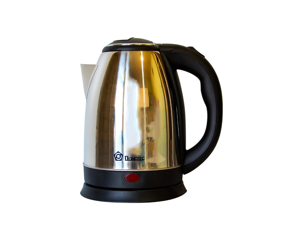 Электрочайник Domotec Dt-804 Серебряный Электрический Чайник Металлический