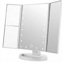 Зеркало для макияжа тройное Superstar Magnifying Mirror Белое