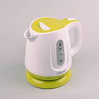 Электрочайник Maestro Mr-013 Бело-Зелёный Электрический Чайник, фото 1