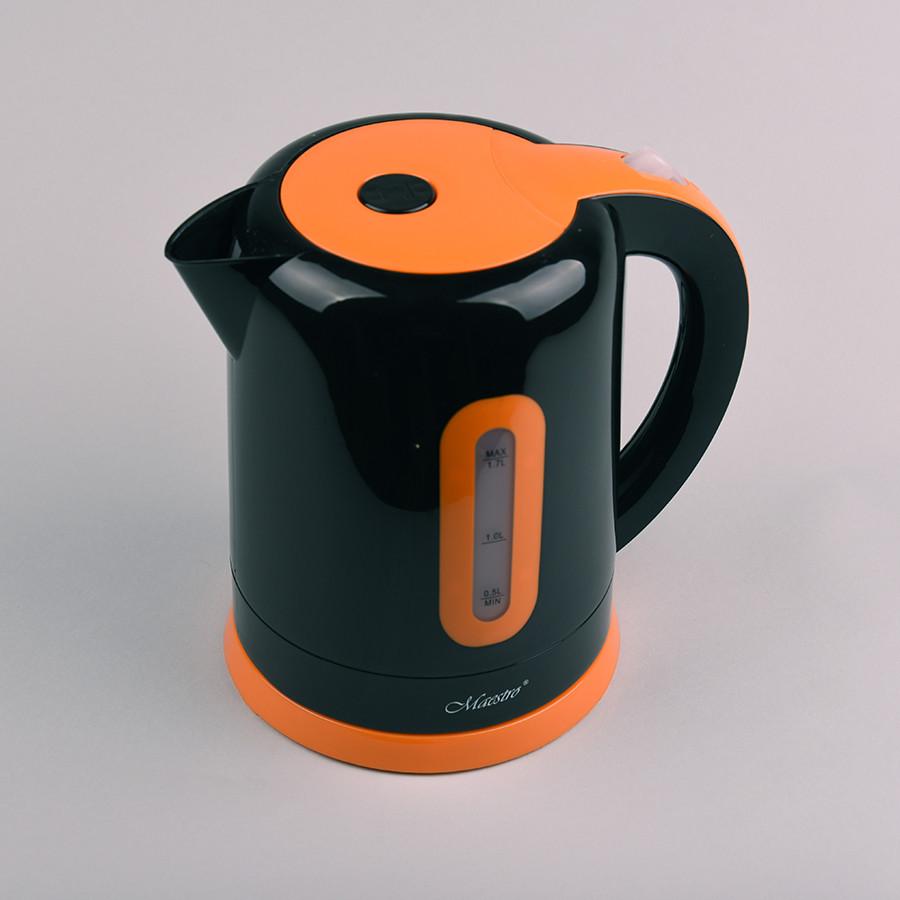 Электрочайник Maestro Mr-040 Чёрно-Оранжевый Электрический Чайник