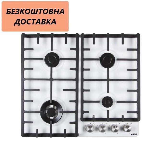 Варочная поверхность встраиваемая Ventolux HSF640-F2 CEST (WH) Газовая на эмаль, Белая