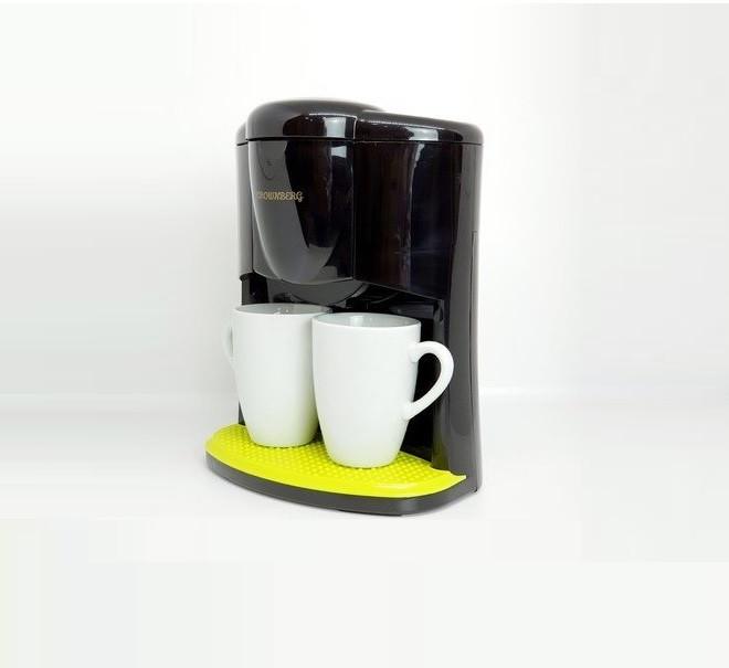 Кофеварка Crownberg Cb-1560 Чёрная 600 Вт Капельная Кофеварка С 2 Чашками