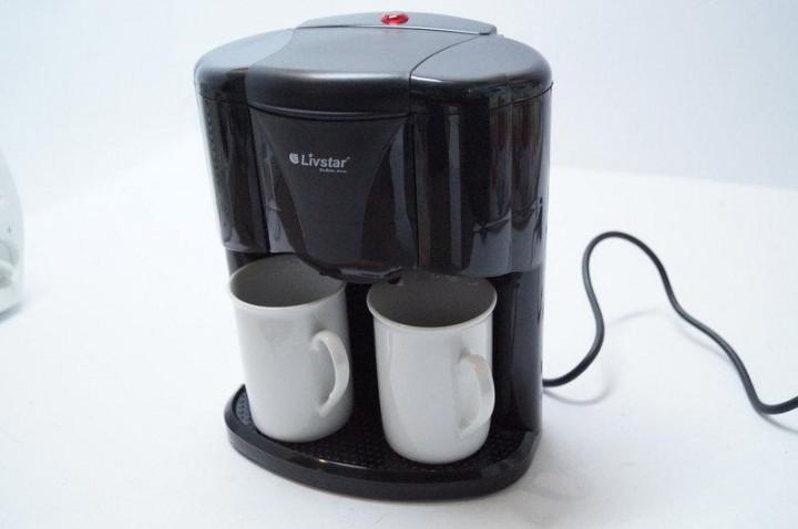 Кофеварка  Livstar Lsu-1190 Чёрная 650 Вт Капельная Кофеварка С 2 Чашками
