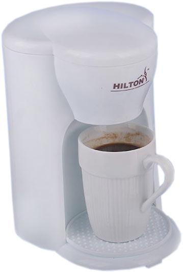 Кофеварка Hilton Ka 5414 Белая Капельная Кофеварка С 1 Чашкой