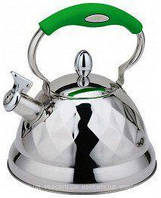 Чайник Bohmann Bh-7688 Зеленый Чайник Со Свистком 3,5 Л