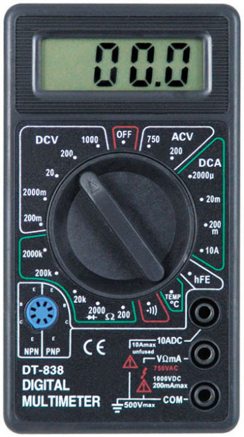 Мультиметр Digital Dt838 Цифровой Мультиметр Тестер