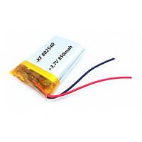 Аккумулятор Литий-Полимерный 850Mah 3.7V 802540 Mb