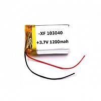 Аккумулятор Литий-Полимерный 1200Mah 3.7V 103040 3.7V Mb, фото 1