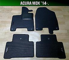 ЕВА коврики на Acura MDX '14-. Ковры EVA Акура МДХ