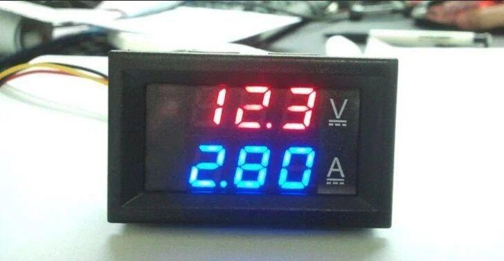 Вольтметр-Амперметр 27019 Цифровий 100V/10A Вбудовуваний Bt7