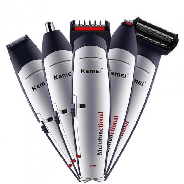 Машинка Для Стрижки Kemei Km-560 5 В 1 Стайлер Набор Для Стрижки Волос Бороды Ушей Бритва Триммер Kemei 560