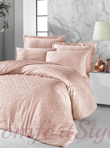 Комплект постельного белья VICTORIA Deluxe Jacquard Sateen RIMMA  кремовый  200*220/2*50*70/2*70*70