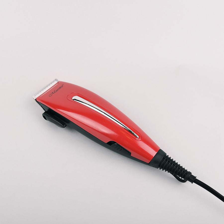 Машинка Для Стрижки Maestro Mr-652C Красный Сетевая Машинка Для Стрижки Волос От Сети Maestro