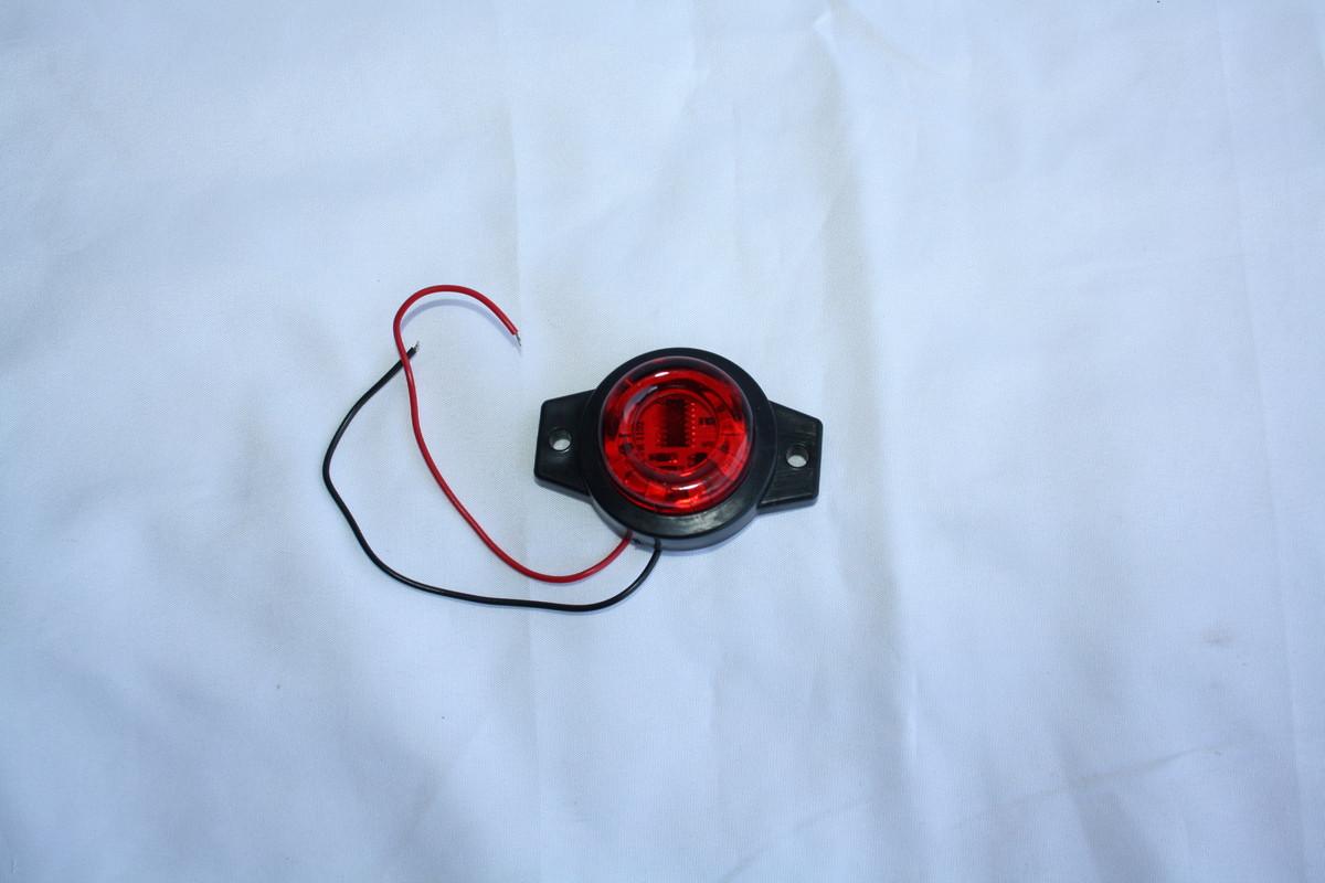 Круглый 9-ти диодный (бегущий по кругу) фонарик красный 1169