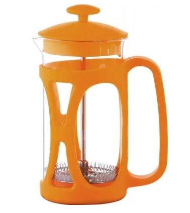 Френч-Пресс Maestro Mr-1663-600 Оранжевый Стеклянный Пресс Заварник Maestro Mr-1663 600 Мл