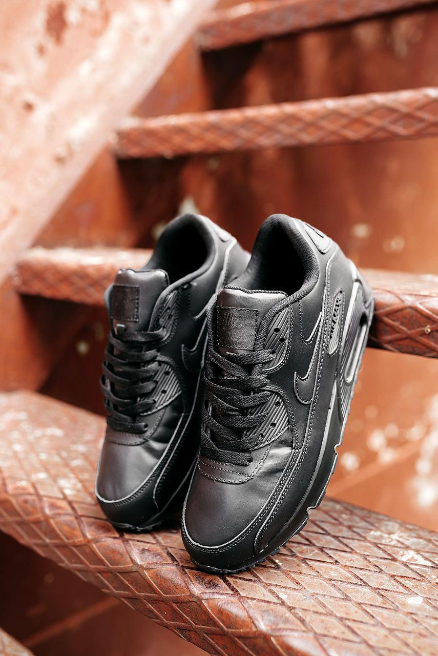 Мужские черные Кроссовки Nike Air Max 90