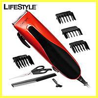 Машинка для стрижки волос Gemei GM-1012 / Машинка для стрижки сетевая с ножницами