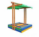 Песочница деревянная цветная, фото 3