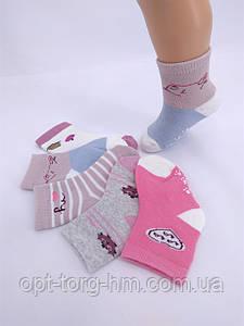 """Махровые детские носочки с тормозами """"Фенна"""" Размер 0-8 месяцев"""