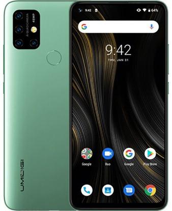 "Смартфон Umidigi Power 3 4/64GB Green, 48+8+5+5/32Мп, NFC, 2sim, 6.53"" IPS, 6150mAh, 8 ядер"