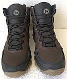 Тёплые ! Ботинки зимние мужские merrell кожаные коричневые, фото 5