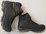 Тёплые ! Ботинки зимние мужские merrell кожаные коричневые, фото 6