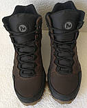 Тёплые ! Ботинки зимние мужские merrell кожаные коричневые, фото 8