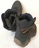 Тёплые ! Ботинки зимние мужские merrell кожаные коричневые, фото 9