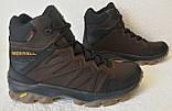 Тёплые ! Ботинки зимние мужские merrell кожаные коричневые, фото 10