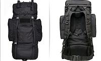 Тактический рюкзак 65 литров каркасный Черный, фото 1