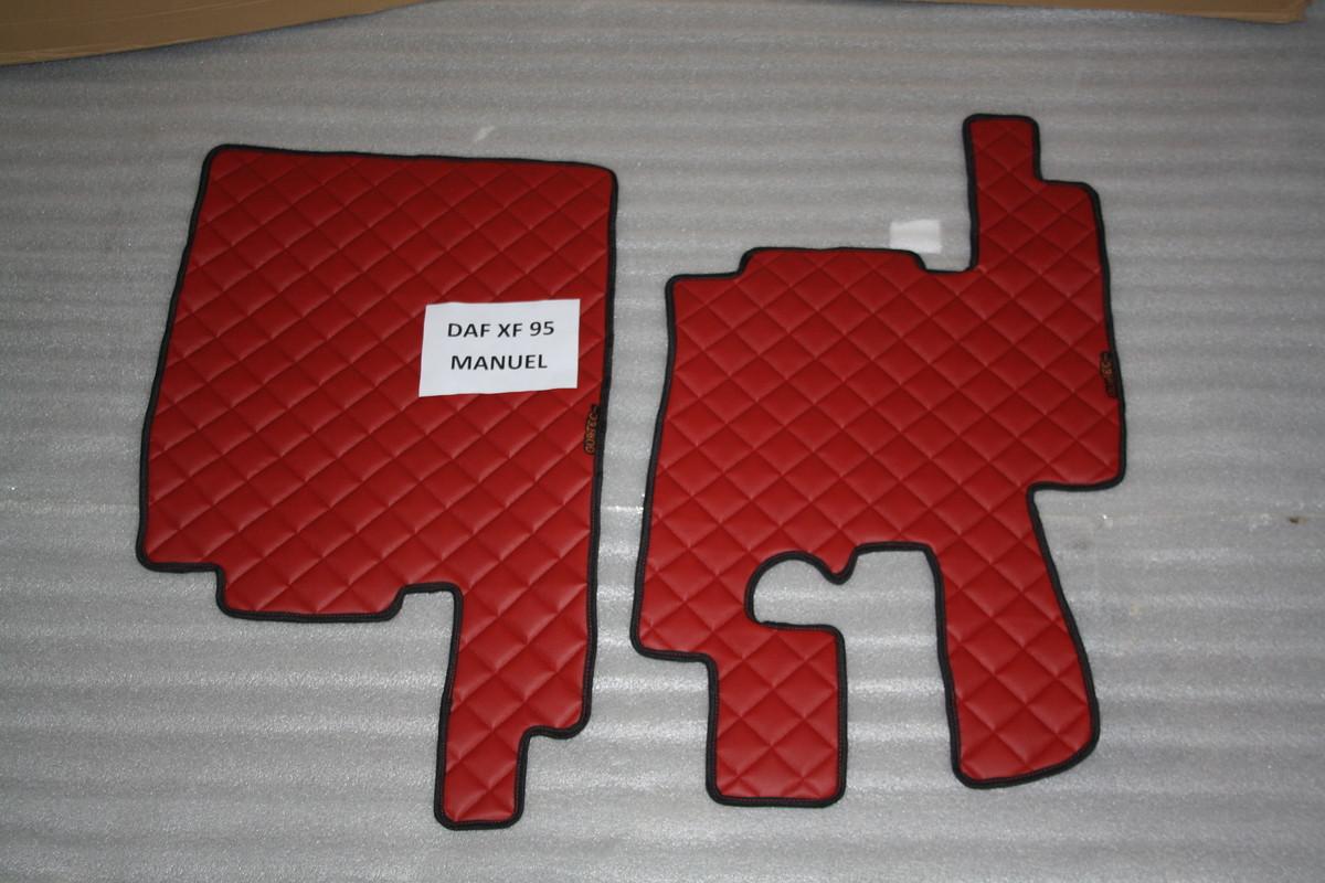 Коврики в салон Daf XF 95 красные из 5-ти частей (механика)