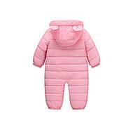 Комбинезон для девочки демисезонный Счастливый мишка, розовый