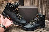 Мужские  зимние кожаные ботинки  Е-series Tracking Black Night (реплика), фото 4