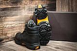 Мужские  зимние кожаные ботинки  Е-series Tracking Black Night (реплика), фото 5