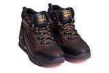 Мужские зимние кожаные ботинки Jack Wolfskin Chocolate (реплика), фото 3