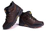 Мужские зимние кожаные ботинки Jack Wolfskin Chocolate (реплика), фото 4