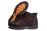 Мужские зимние кожаные ботинки Jack Wolfskin Chocolate (реплика), фото 5