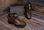 Мужские зимние кожаные ботинки Jack Wolfskin Chocolate (реплика), фото 8
