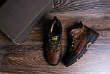 Мужские зимние кожаные ботинки Jack Wolfskin Chocolate (реплика), фото 10