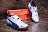 Мужские зимние кожаные кроссовки  Puma BMW MotorSport White Pearl (реплика), фото 9