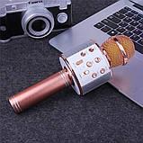 Караоке микрофон для детей Микрофоны блютуз беспроводной с колонкой Черный Black WS-858 Музыкальные игрушки, фото 7