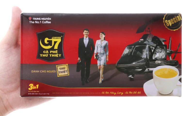 Вьетнамский Натуральный Кофе 3 в 1 G7 Trung Nguyen 21 пакетиков по 16г