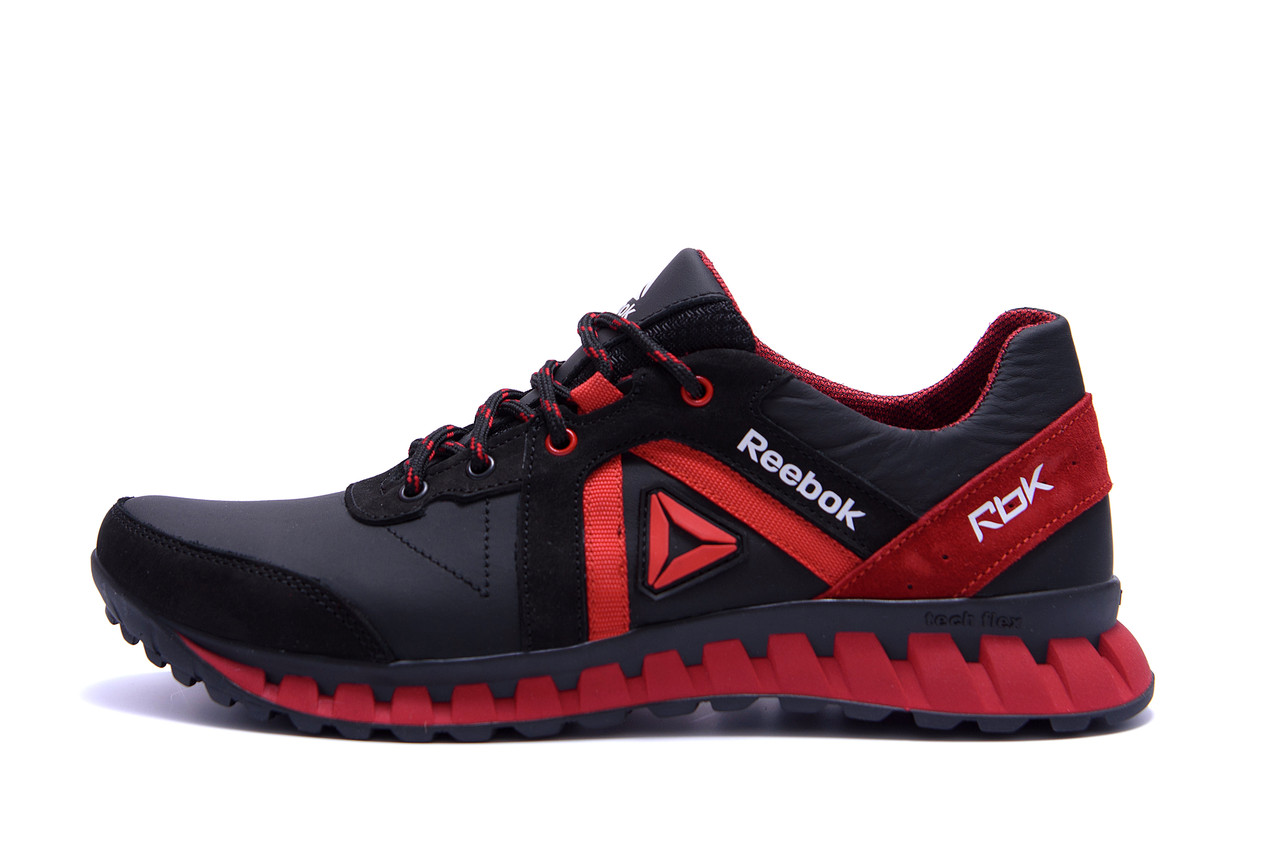 Мужские кожаные кроссовки  Reebok SPRINT TR  Red (реплика)