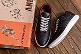 Мужские кожаные кроссовки YAVGOR Black, фото 7