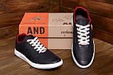 Мужские кожаные кроссовки YAVGOR Black, фото 8